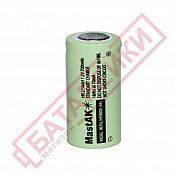 Фото - 2/3AA 1.2V, 700mAh, 14.5*28.7mm, flat top