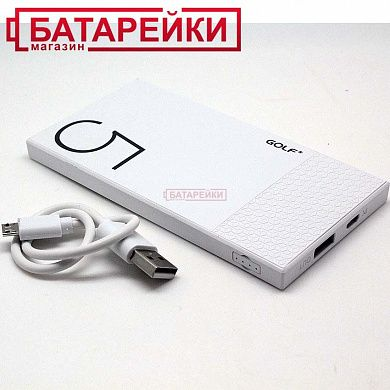 Фото - Power Bank GOLF Hive5 white 5000mah